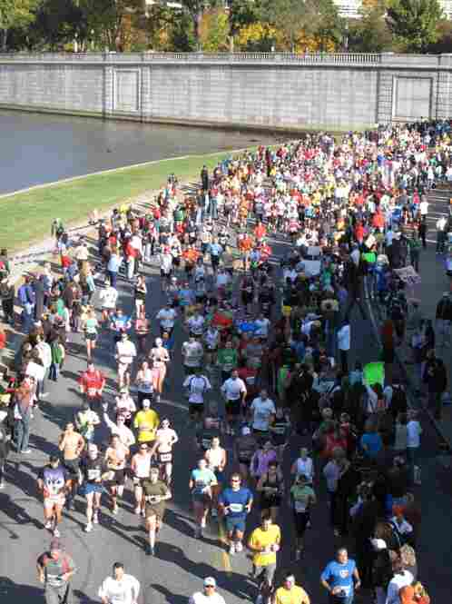 The route took the runners around Washington, D.C. and along the Potomac River.