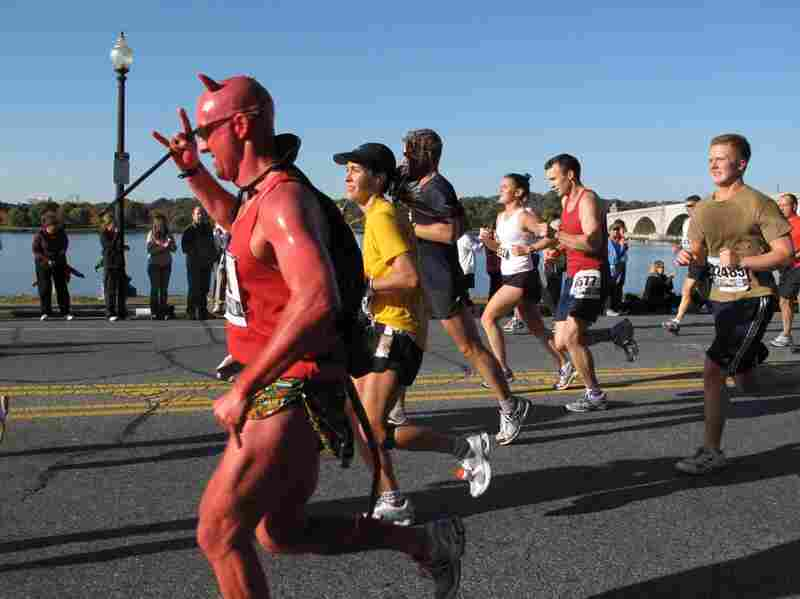 Even the devil was hoping for a good race time!