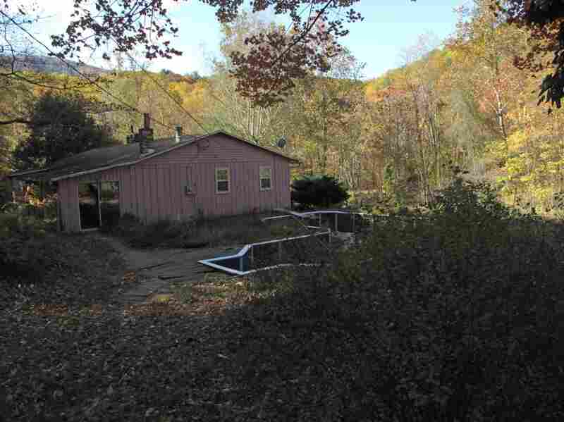 The pink house is nestled in the Shenandoah Mountains, but it's been abandoned for years, and it's in sad shape. It sat on the market for a long time before a bank foreclosed on it.