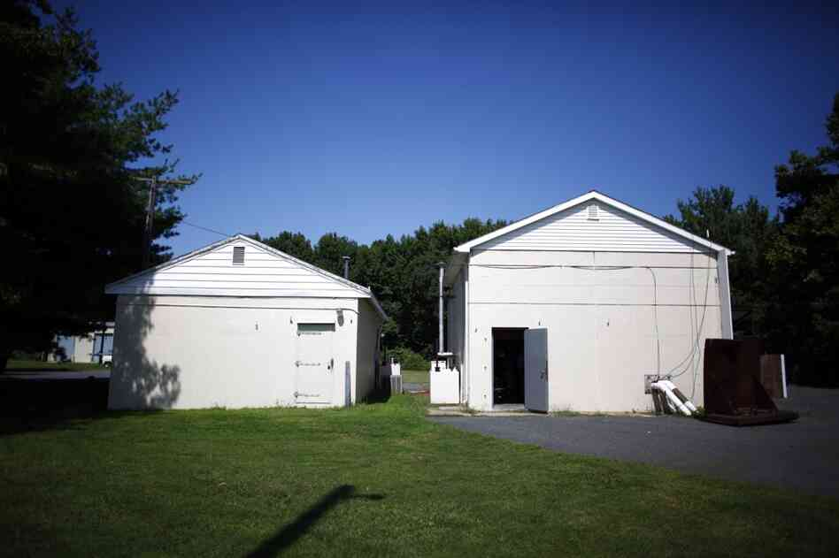 "These hardened buildings, known as ""bunkers,"" at the Army's Aberdeen Proving Ground provide shelter from the nearby bomb testing site. The Aberdeen Proving Ground is the Army's oldest active test site, where thousands of explosive devices have been detonated over the years."