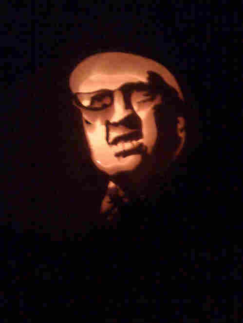 Pumpkin Cheney (submitted by Rachel) is glowing from an undisclosed location.