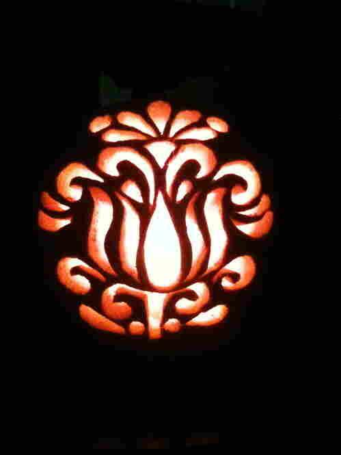 Floral Pattern Pumpkin by Raina