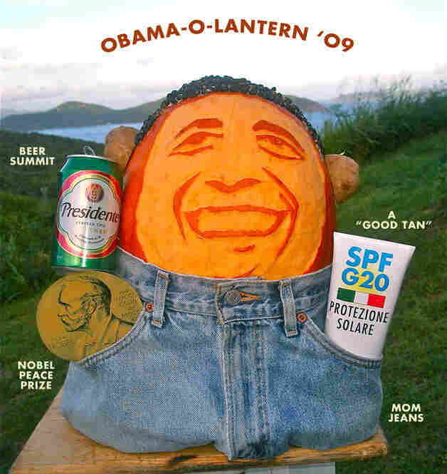 Obama-O-Lantern, submitted by Cheryl.
