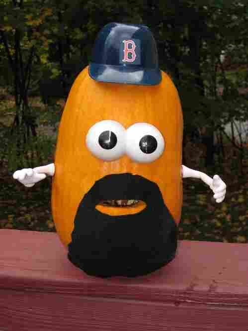 Pumpkin Kevin Youkilis, submitted by Ken.