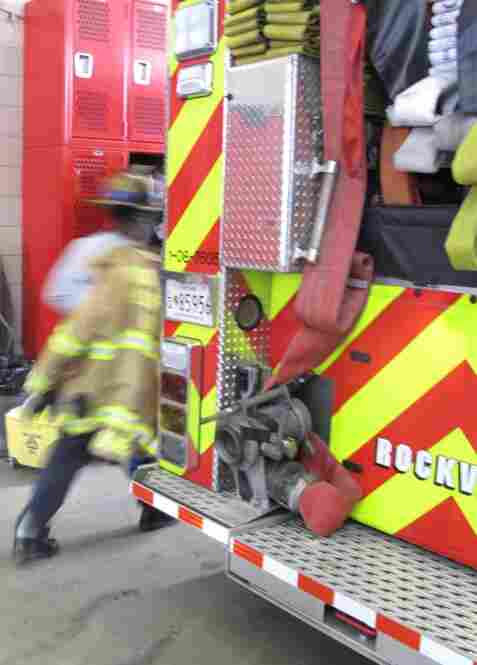 Once an emergency call comes in, every member of the assigned crew jumps into action and heads for their vehicle.