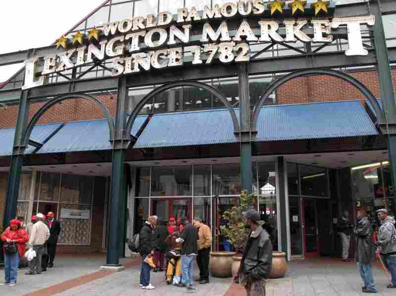 The Lexington Market in downtown Baltimore is open daily from 10am to 6pm.  It's endured two fires in its long history, and today is an open air market with hundreds of vendors.