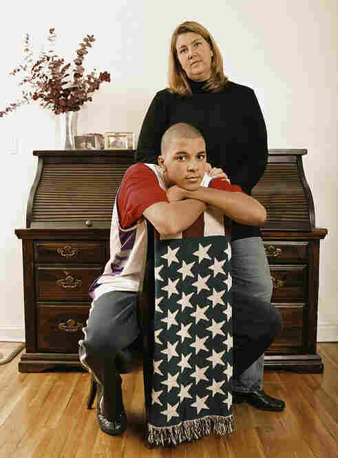 "Ryan and his mother Tracy Schlachter. Ryan: half black, half white. ""When I show people who my mother is, they are surprised because we don't really look alike."" Queens, N.Y."