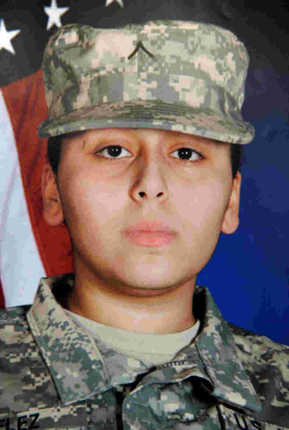 Francheska VelezRecently returned from Iraq, Velez, 21, from Chicago's West Humboldt Park neighborhood, was pregnant and about to be temporarily released from duty.