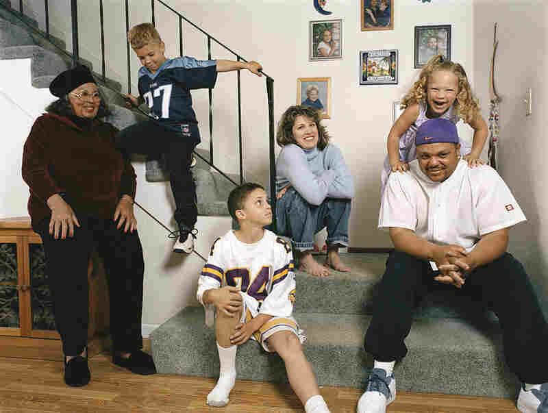 Janine (center), Evan (right) and their children, Weston, Austin and Isabella. Janine: white, some Native American (Aleutian Islander); Evan: African-American, Native American (Cherokee, Choctaw), white. Benicia, Calif.