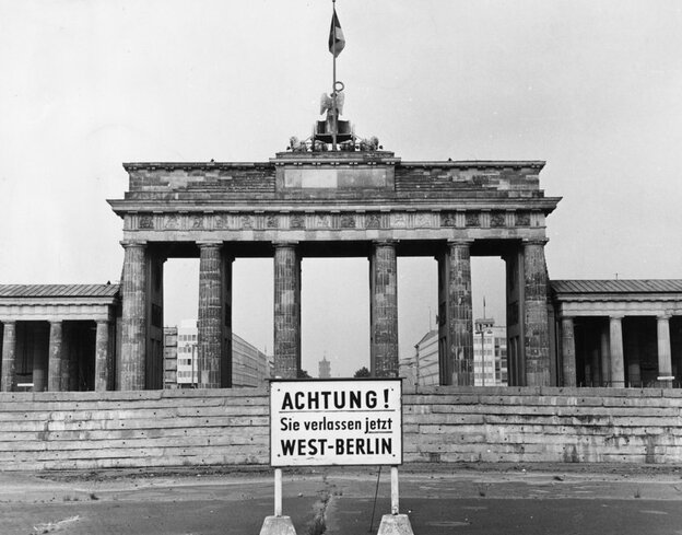 Following World War II, Germany and the city of Berlin were divided into democratic West and communist East. Historic Brandenburg Gate became a symbol of the divide.