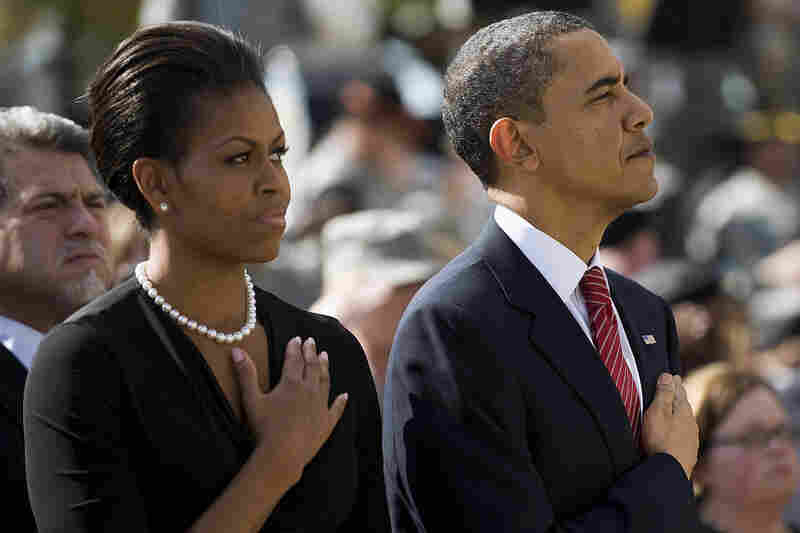 During the memorial service, President Obama named each of the 13 who died and shared personal stories about them and their families with the crowd of about 15,000.