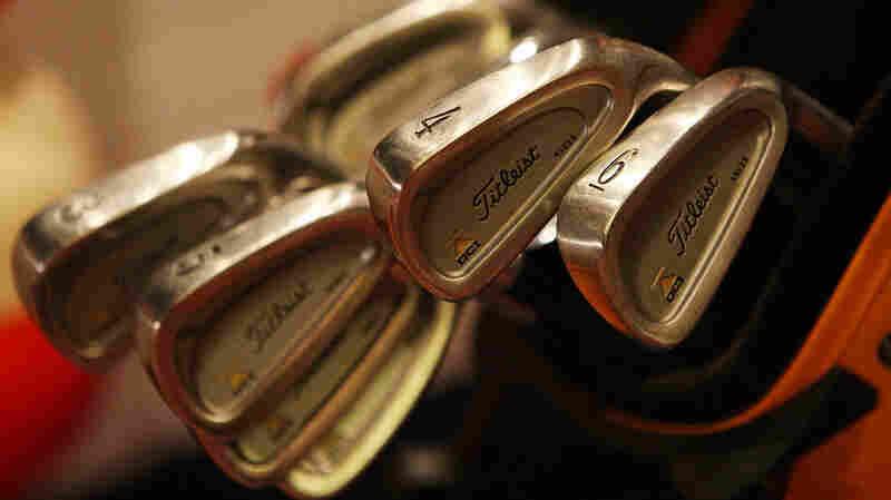 Madoff's golf clubs.