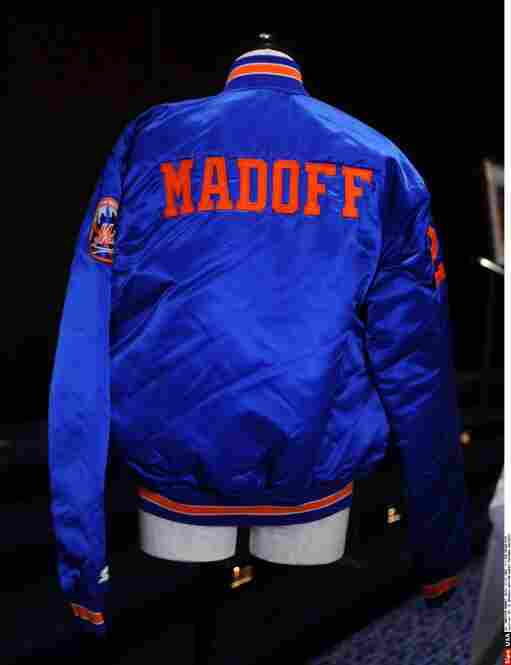 His personalized New York Mets baseball jacket was one of roughly 200 items on auction in the grand ballroom at the Sheraton New York Hotel and Towers.