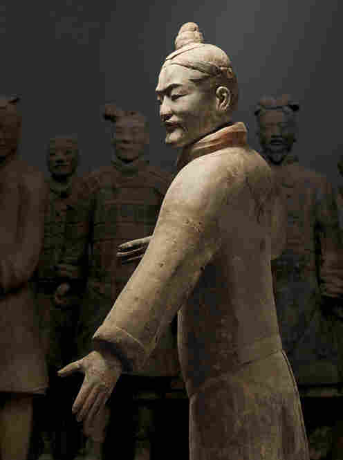 """There are over 7,000 figures,"" Dien says. Before the discovery of the army, the only burial figures that had been found were small and rather crude. ""This kind of life-size, realistic portrayals, down to the fingernails — even the strands of hair on the head are depicted — where did that come from?"""