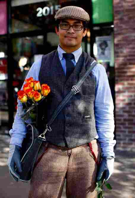 """Ronald Soltes handed out flowers to the """"most clever quaintrelles."""""""
