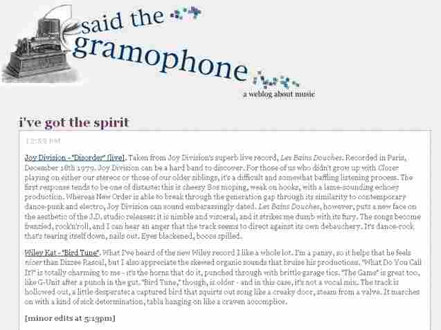 Said the Gramophone