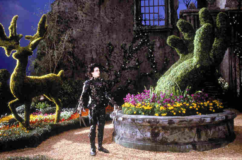 Johnny Depp in Edward Scissorhands, 1990, directed by Tim Burton