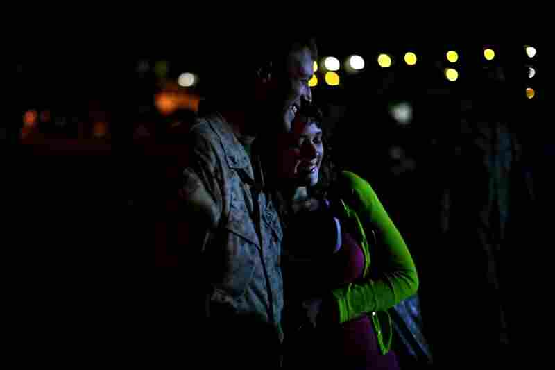 "There are echoes of ""I love you"" from throughout Camp Lejeune as couples and families are reunited."