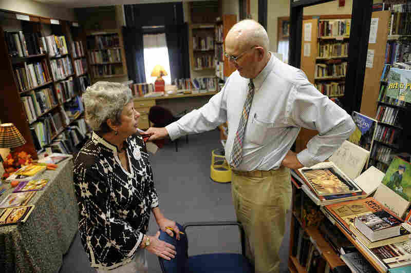 Seymour visits his wife, Polly, at the library where she volunteers in Winter Park, Fla. When he's not driving for ITN, Seymour is active in the community and volunteers with Habitat for Humanity.