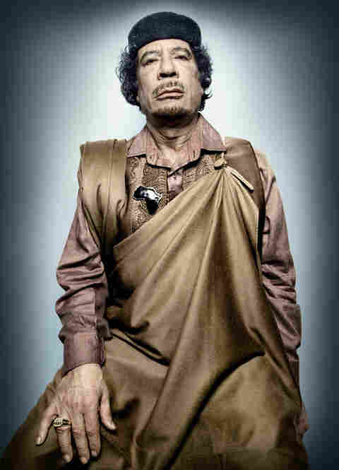 Moammar Gadhafi, leader of the revolution, Libya, in office since Sept. 1, 1969