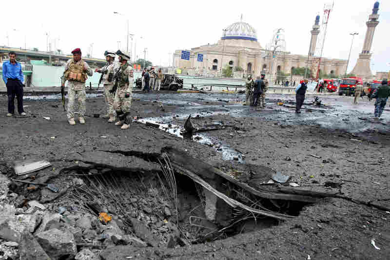 A bombing on Cairo Street was one of the five coordinated blasts that struck Baghdad on Tuesday.