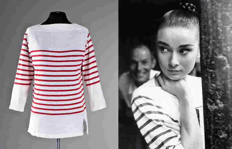 Audrey Hepburn wore this striped Mark Cross top while filming War and Peace in 1956. (Clothing images courtesy of Kerry Taylor Auctions / The Kobal Collection) Estimate: $1300 - $1900