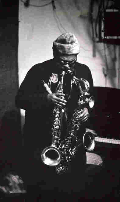 Blind jazz artist Roland Kirk was known for his skill in playing multiple instruments at a time.