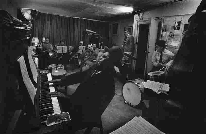 Among the many artists who frequented Smith's loft were greats like Thelonious Monk. The tapes have preserved hours of conversation and improvisation. In this image, Monk rehearses for a concert that would take place in Feb., 1959.