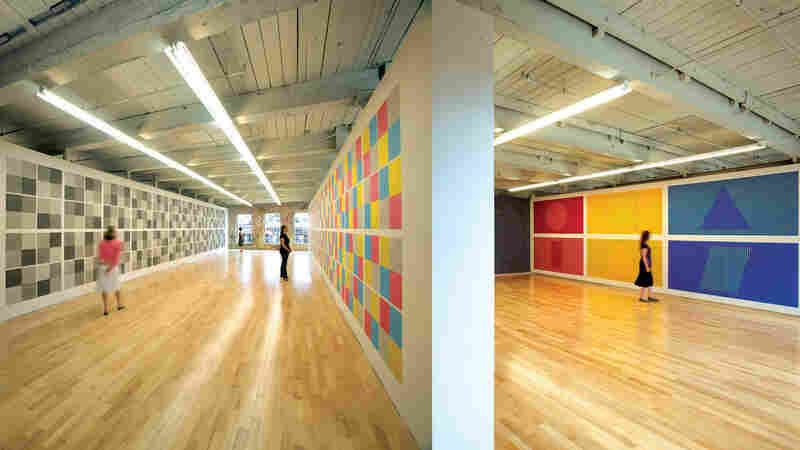 A view of the gallery space at MASS MoCA.