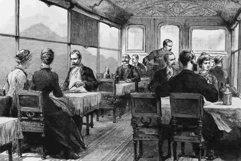 An 1886 illustration of the dining car. The Orient Express was a symbol of luxury, wealth and mystique, but the train route was also a practical way to travel across the Balkans.