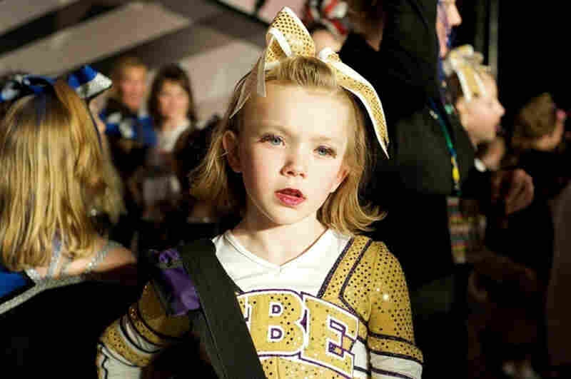 A young cheerleader at the Xtreme Cheer and Dance championships in Wisconsin Dells, Wis.