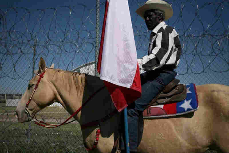 "The Angola prison rodeo in Angola, La., ""provides a way for low- and medium-security inmates to get a break from their regular schedule and possibly earn some extra cash."""