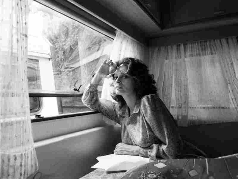 """""""Sitting in her trailer ... she hadn't changed at all since I first photographed her over 15 years earlier."""" Sophia Loren, Rome, 1984"""