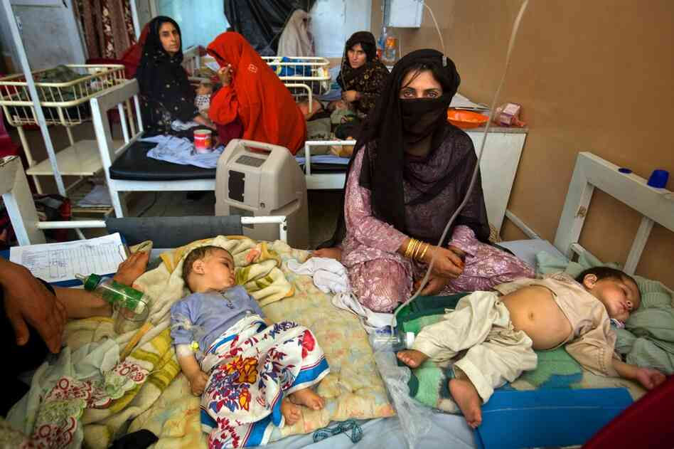 Mirwais Hospital in Kandahar is the only public hospital serving five southern provinces in Afghanistan. In the children's intensive care unit, toddlers sleep two or three to a bed.