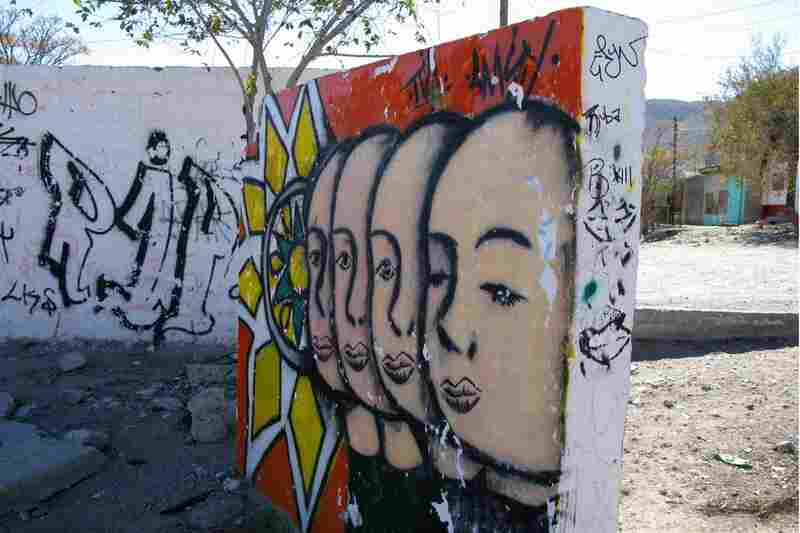 Graffiti commemorating those who have died is a common part of the Juarez landscape.