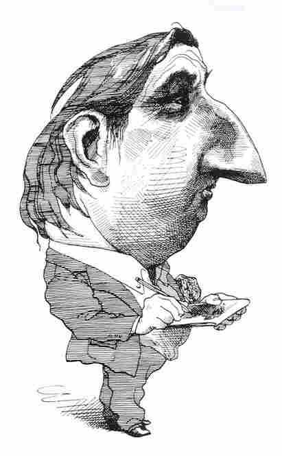 David Levine, Self-Caricature, 1968
