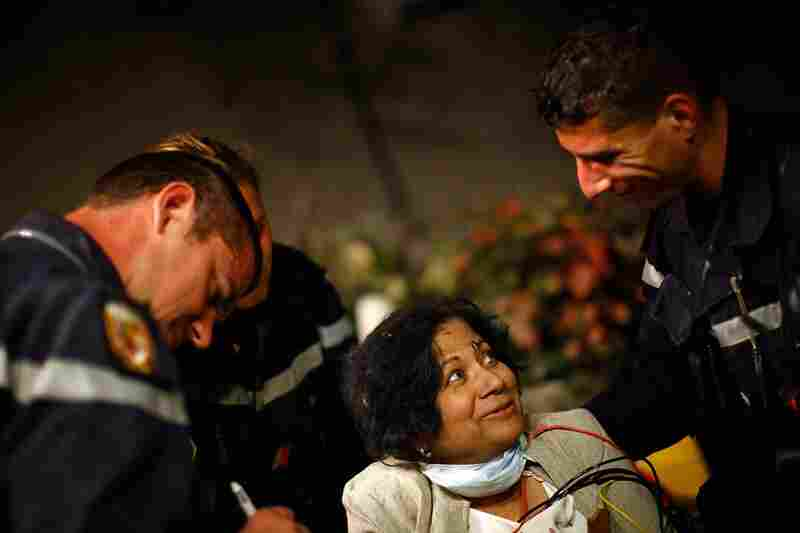 Sarla Chand, 65, from New Jersey, is in good condition after being rescued from the collapsed Hotel Montana in Port-au-Prince on Thursday.