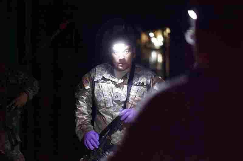 Members of the Army's 82nd Airborne Division provide security for the clinic around the clock.