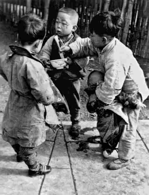 "Most Children in China are Still Hungry, 1936. In Shanghai, Sha Fei recorded the poverty endured by the people. As a social documentary photographer, he considered photography ""the most powerful weapon for exposing reality"" of the common people."