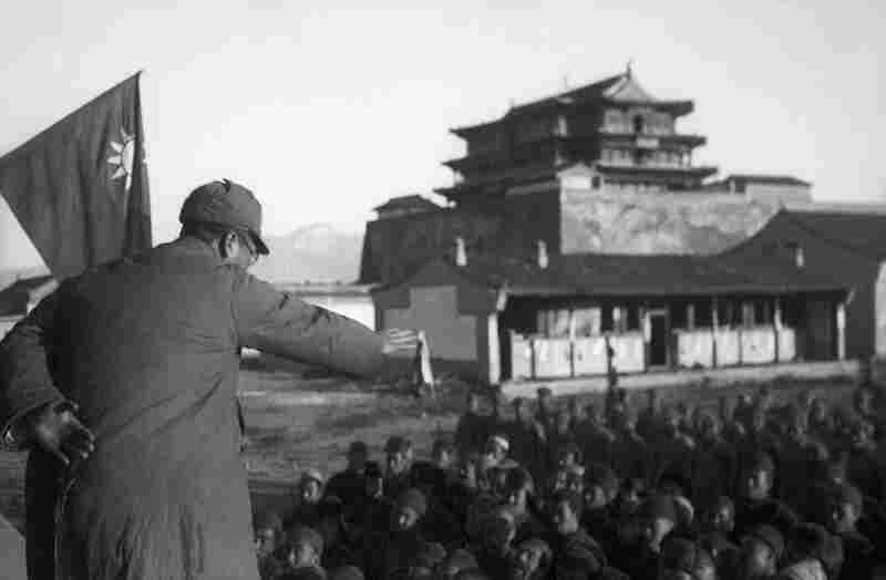 The Eighth Route Army and Local Residents Celebrating the Recapture of Yuxian County, Hebei Province, 1937. Upon the outbreak of the China war with Japan (1937-1945), Sha Fei joined the Chinese Communist army, and became its official photographer.