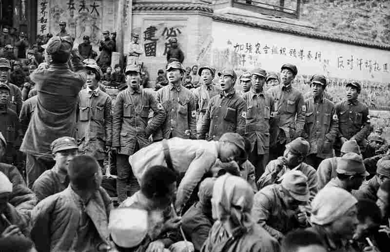 Japanese Captives Singing as They Express Gratitude to Their Communist Captors before Release, 1938. Sha Fei captured specific moments and events to reveal the human side of the war.