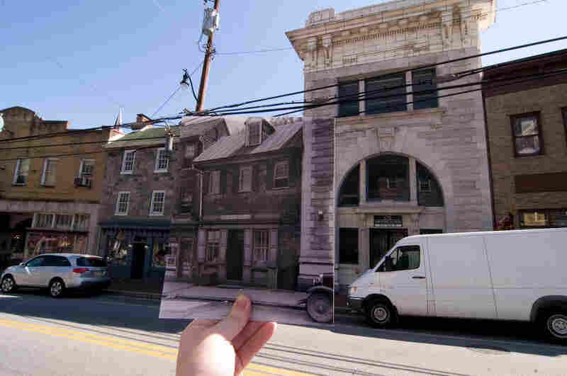 8133 Main St., Ellicott City, Md., April 2009. Original photo: 8133 Main St. (shop front), Ellicott City, Howard County, Md., circa 1933. Library of Congress