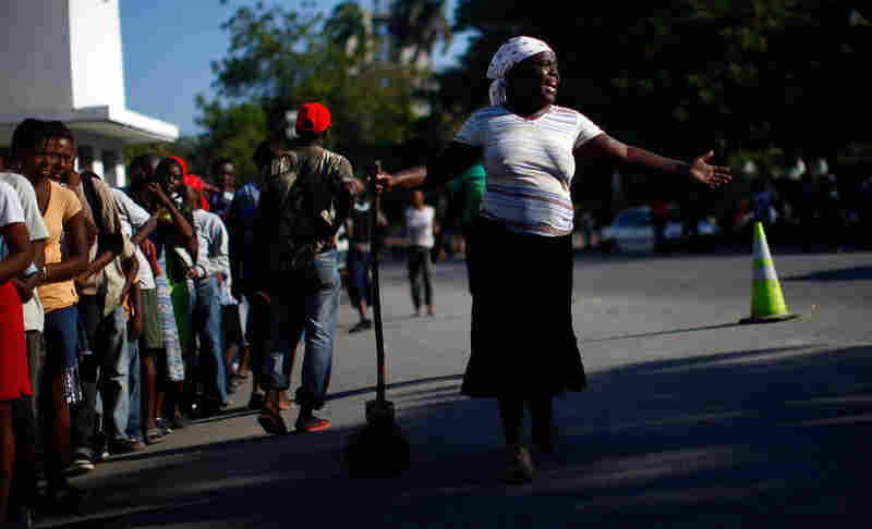 The Haitian government plans to move 400,000 earthquake victims from the shattered capital to camps in outlying areas in the coming weeks to prevent the spread of disease.