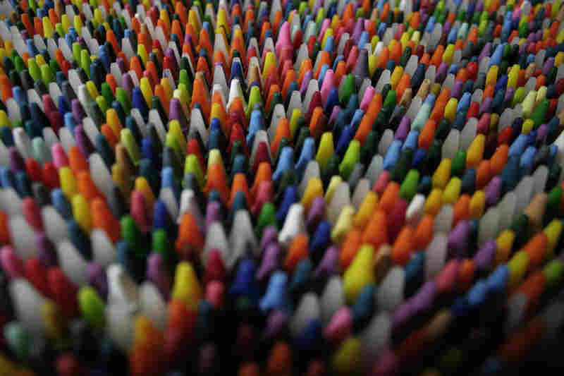 Random close-up of crayons