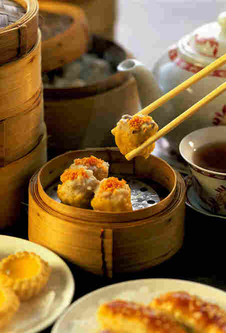Hong Kong claims to have the best dim sum in the world, an assortment of light dishes served with tea.