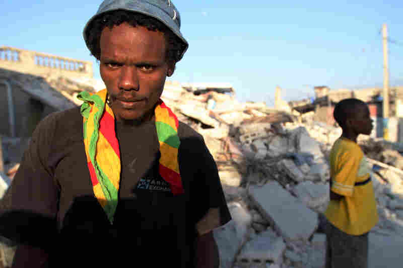The hilltop Port-au-Prince neighborhood of Fort National was heavily damaged by the Jan. 12 earthquake. Devarieu Stanley, like many of his neighbors, had to recover the bodies of loved ones himself. He lost his mother, his child and his nephew.