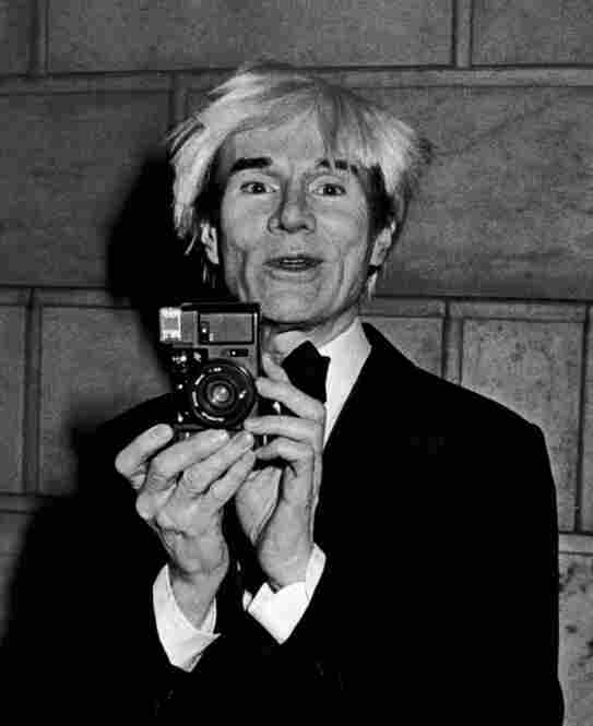 Andy Warhol, who was a fan of Galella's work, at an awards ceremony at New York Public Library on Jan. 13, 1985.
