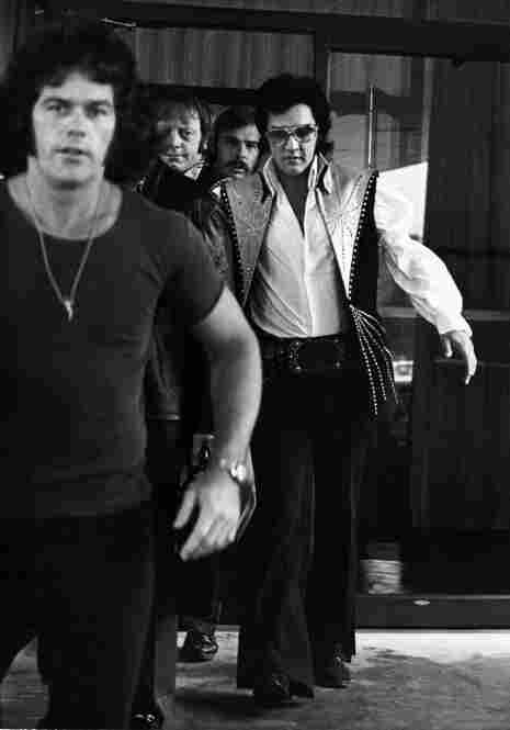 """""""Who are you with, Cat?"""" Elvis asked Galella after he shot this picture on June 25, 1974, in Philadelphia."""