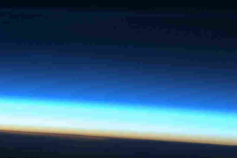 """Noctilucent cloud over Antarctic, near Showa Base."""