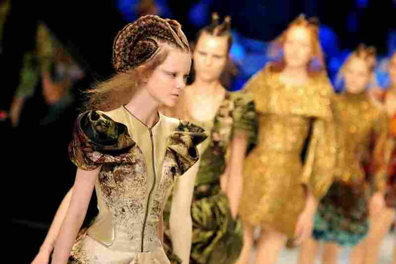 Models walk the runway during McQueen's Pret a Porter show as part of the Paris Womenswear Fashion Week Spring/Summer 2010 in June 2009.